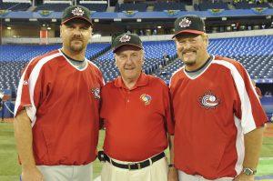 L-R: Larry Walker, Bernie Soulliere & Ernie Whitt
